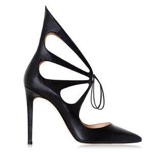 Alejandro Ingelmo Mariposa Black Suede Heels
